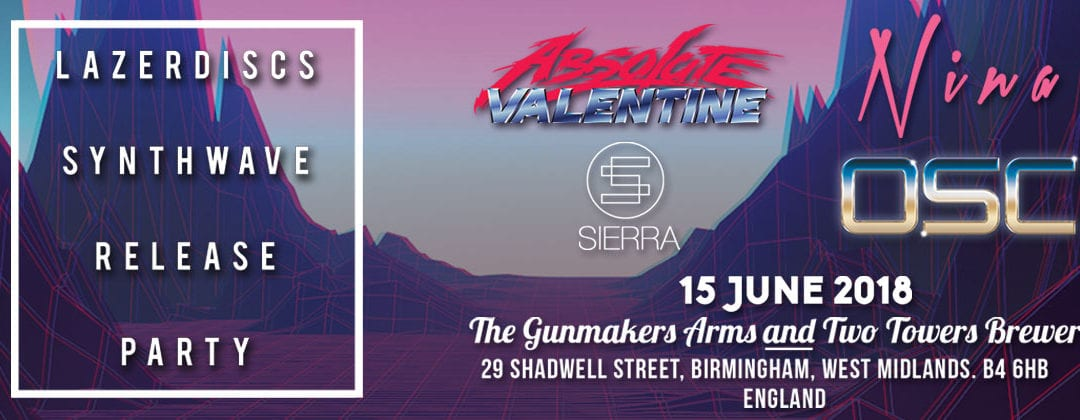 Lazerdiscs Records Synthwave Release Party Birmingham
